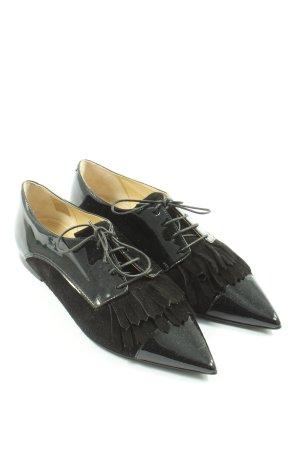Caiman Sznurowane buty czarny Z połyskiem
