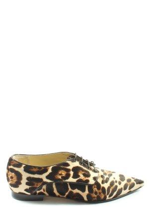 Caiman Sznurowane buty w kolorze białej wełny-czarny Na całej powierzchni