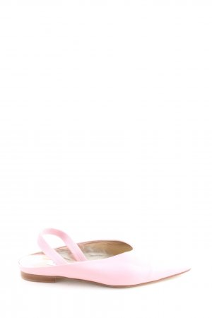 Caiman Ballerine à bride arrière rose style décontracté