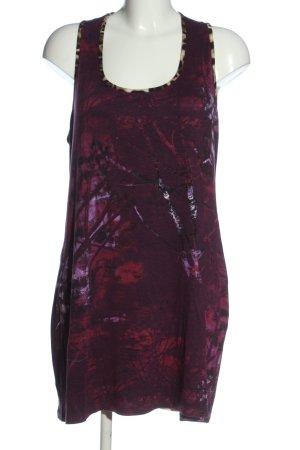 Cake&Candy Długi top fiolet-czerwony Na całej powierzchni W stylu casual