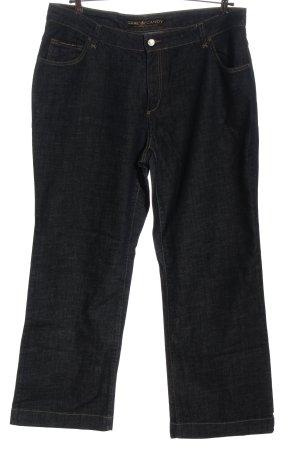 Cake&Candy Jeansy z prostymi nogawkami niebieski Wzór w paski W stylu casual