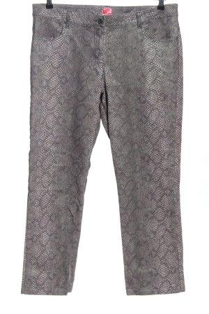 Cake&Candy Jeans coupe-droite gris clair imprimé allover style décontracté