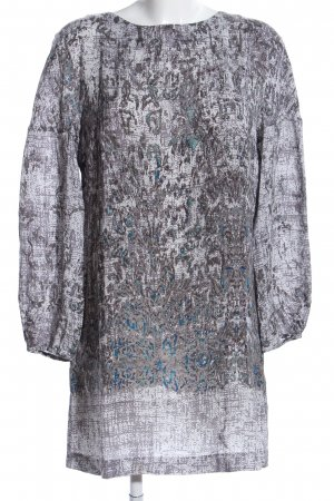 Caliban Blouse Dress light grey-blue abstract pattern casual look