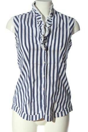 Caliban Hemd-Bluse blau-weiß Streifenmuster Business-Look
