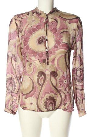 Caliban Hemd-Bluse pink-wollweiß Blumenmuster Casual-Look