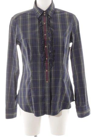 Caliban Camicia blusa motivo a quadri stile casual