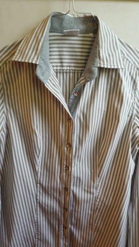 Caliban Shirt Blouse white-khaki cotton