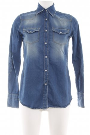 Caliban Jeanshemd blau Casual-Look