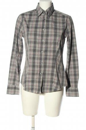 Caliban Checked Blouse light grey-black check pattern casual look