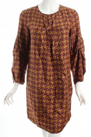 Caliban Robe brun rouge-brun sable motif abstrait