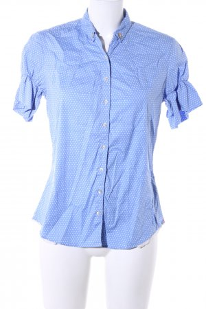 Caliban Short Sleeve Shirt blue allover print business style