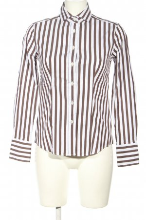 Caliban Long Sleeve Blouse brown-white allover print casual look
