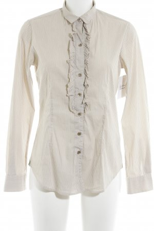 Caliban Long Sleeve Blouse camel-natural white striped pattern business style