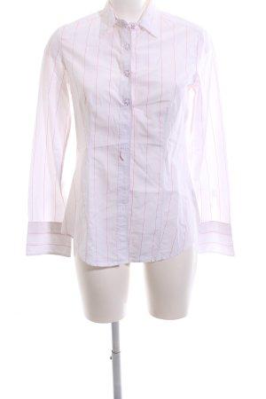Caliban Camicia a maniche lunghe bianco stampa integrale stile professionale