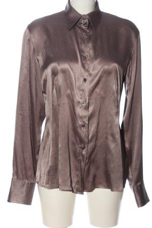 Caliban Shirt met lange mouwen bruin zakelijke stijl