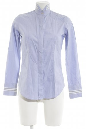 Caliban Long Sleeve Shirt blue striped pattern business style