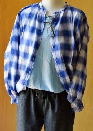 Caliban Camicia a maniche lunghe multicolore Cotone