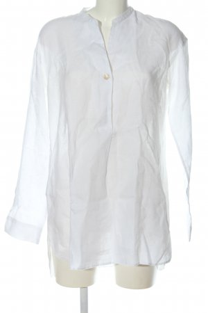Caliban Blusa de lino blanco look casual