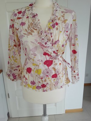 Caliban Blouse portefeuille multicolore coton