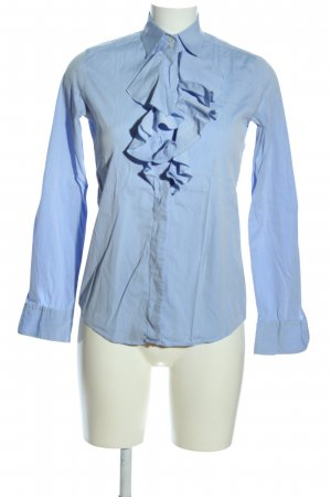 Caliban Blouse à volants bleu style d'affaires