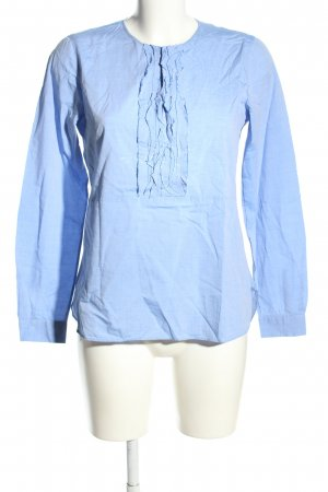 Caliban Schlupf-Bluse blau Casual-Look