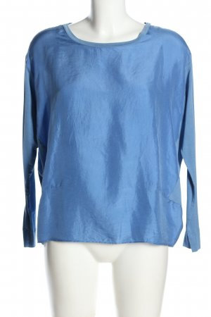 Caliban Seidenbluse blau Casual-Look