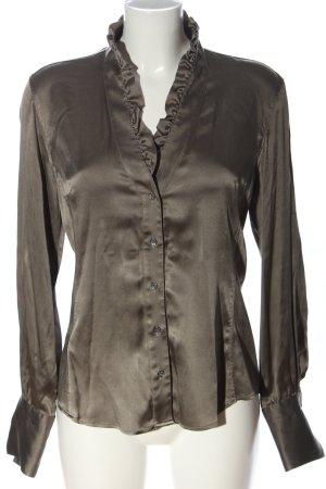 Caliban Silk Blouse light grey elegant