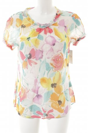 Caliban T-Shirt florales Muster Romantik-Look