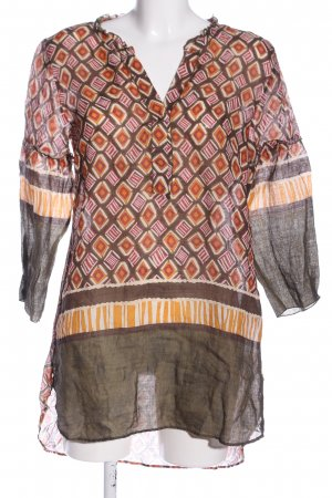 Caliban Tuniekblouse abstract patroon casual uitstraling