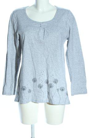 Calida Manica lunga grigio chiaro motivo floreale stile casual