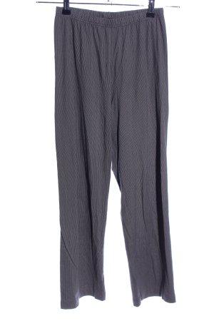 Calida Stretchhose hellgrau-schwarz Streifenmuster Casual-Look