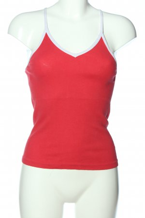 Calida Top z cienkimi ramiączkami czerwony-biały W stylu casual