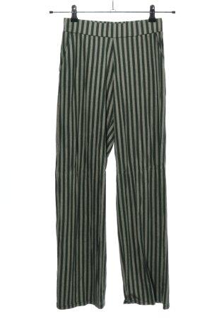 Calida Stoffen broek khaki gestreept patroon casual uitstraling