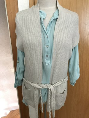 Short Sleeve Knitted Jacket natural white