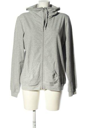 Calida Giacca fitness grigio chiaro puntinato stile casual