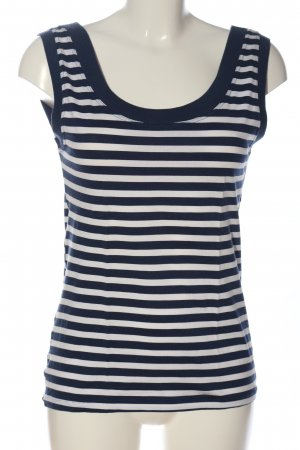 Calida Strappy Top blue-white allover print casual look
