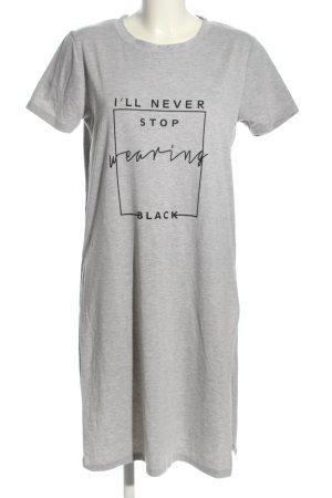 California &Miss Shirt Dress light grey-black printed lettering casual look