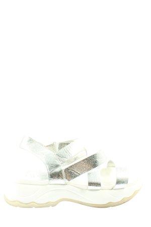 Call it Spring Comfortabele sandalen zilver-wit casual uitstraling