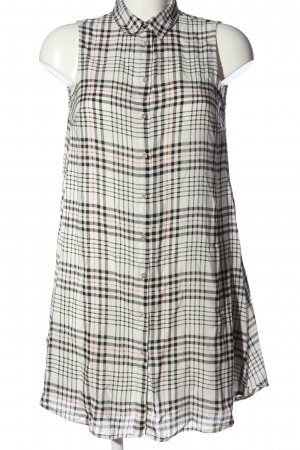 Calliope A Line Dress white-black check pattern casual look