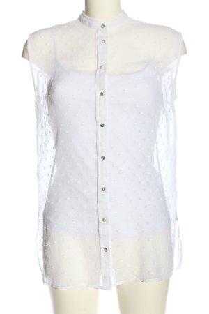 Calliope Blusa senza maniche bianco stile casual