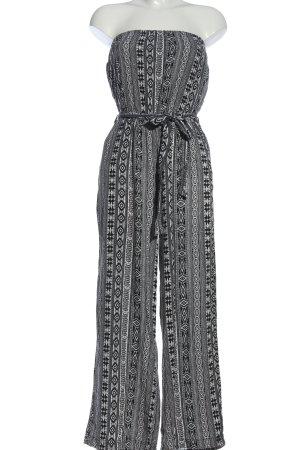 Calliope Kombinezon czarny-biały Abstrakcyjny wzór W stylu casual