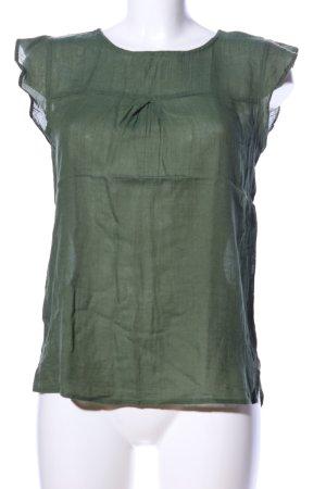 Calliope Short Sleeved Blouse khaki casual look