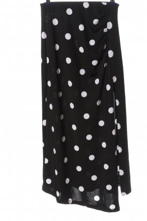 Calliope Midi-rok zwart-wit gestippeld patroon casual uitstraling