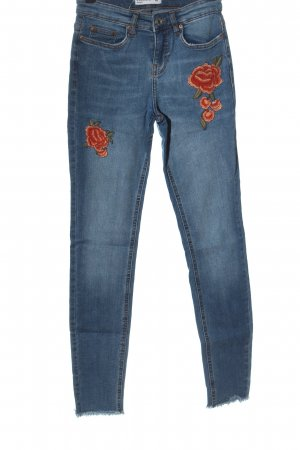 Calliope Tube Jeans blue flower pattern casual look