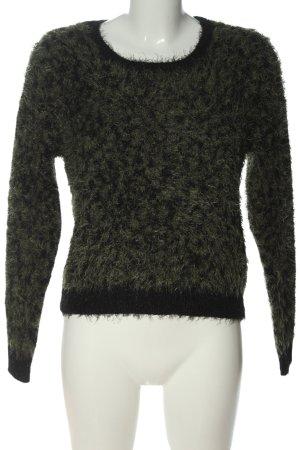 Calliope Crewneck Sweater khaki-black flecked casual look