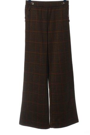 Calliope Pantalon pattes d'éléphant motif à carreaux style décontracté