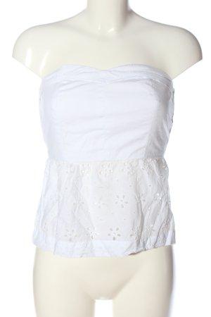 Calliope Top spalle scoperte bianco stile casual