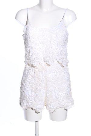Calliope Spitzentop weiß-creme grafisches Muster Elegant
