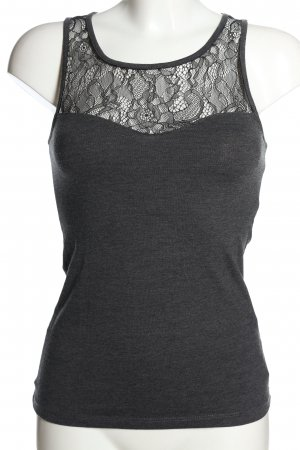 Calliope Lace Top light grey flecked casual look