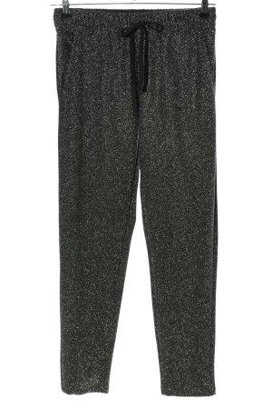 Calliope Pantalone jersey nero-bianco puntinato stile casual